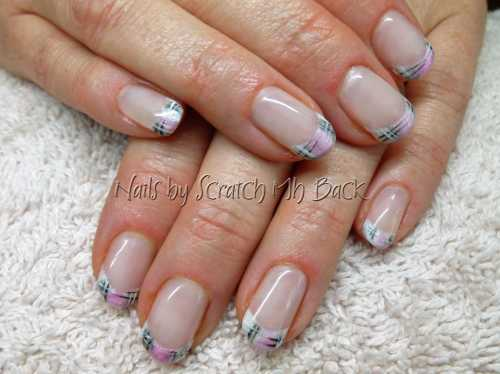 Photo gallery scratch my back nail studio nail salon ajax gel nails overlay with hand painted burberry nail art design prinsesfo Choice Image